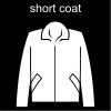 short coat Pictogram
