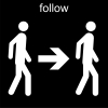 follow Pictogram