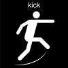 kick Pictogram