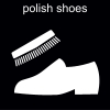 polish shoes Pictogram