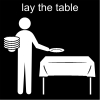 lay the table Pictogram