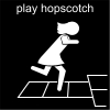 play hopscotch Pictogram