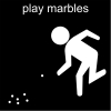 play marbles Pictogram