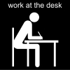 work at the desk Pictogram