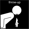 throw-up Pictogram