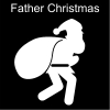 Father Christmas Pictogram