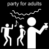 party for adults Pictogram