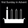 first Sunday in Advent Pictogram
