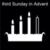third Sunday in Advent Pictogram