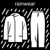 rainwear Pictogram