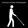 seriously visually handicapped Pictogram