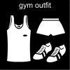 gym outfit Pictogram