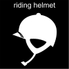 riding helmet Pictogram