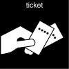 ticket Pictogram