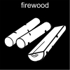 firewood Pictogram