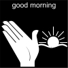 good morning Pictogram