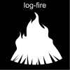 log-fire Pictogram