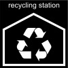 recycling station Pictogram