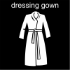 dressing gown Pictogram