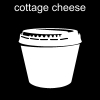 cottage cheese Pictogram