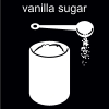 vanilla sugar Pictogram