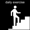 daily exercise Pictogram