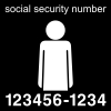 social security number Pictogram