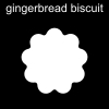 gingerbread biscuit Pictogram