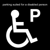 parking suited for a disabled person Pictogram