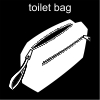 toilet bag Pictogram