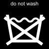 do not wash Pictogram