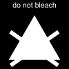 do not bleach Pictogram