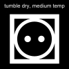 tumble dry, medium temp Pictogram