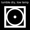 tumble dry, low temp Pictogram