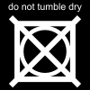 do not tumble dry Pictogram