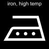 iron, high temp Pictogram