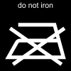 do not iron Pictogram