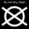 do not dry clean Pictogram