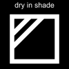 dry in shade Pictogram