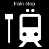 train stop Pictogram