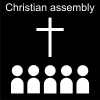 Christian assembly Pictogram