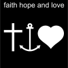 faith hope and love Pictogram