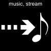 music, stream Pictogram