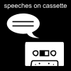 speeches on cassette Pictogram