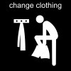 change clothing Pictogram