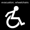 evacuation, wheelchairs Pictogram