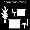 open plan office Pictogram