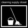 cleaning supply closet Pictogram
