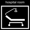 hospital room Pictogram