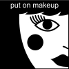 put on makeup Pictogram
